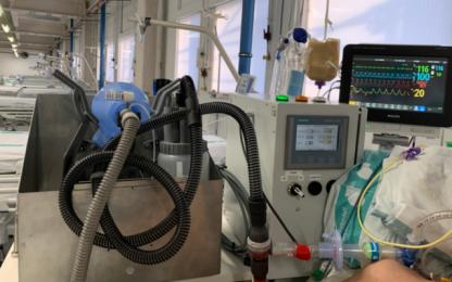 Respirador Leitat 1 en funcionamiento